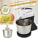 GORDESC 1 PC Tragbare Basis Typ / Hand in 2 Elektrische Beater Teig Kuchen Ei Stand Mixer Küche Zubehör (Weiß, UKPlug)