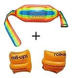 Omont,Aufblasbare Wasser SchwimmenGürtel Schwimmweste und Arm Bands für Kinder und Erwachsene