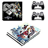 THTB Playstation 4 Pro + 2 Controller Aufkleber Schutzfolien Set - Kingdom Hearts (1) /PS4 P