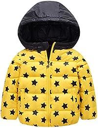 Caliente Abrigo Niño chaqueta acolchada con capucha sudadera abrigo anorak invierno chaqueta abajo por bebé 2-7 años Vine