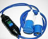 HDIUK 5m 16A Netz 1871mit Inline RCD IP44Outdoor spezifische für Camping, Industrial, Commercial Power Anschluss Campingplatz Marina Generator HOOKUPS. Sicherheit Power vorzubeugen, um blau 1,5mm2gebaut 240V AC Arctic Grade, Strom Kabel.