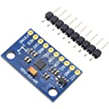 DSD TECH MPU-9250 9 DOF Giroscopio de 3 Ejes, acelerómetro de 3 Ejes, magnetómetro de 3 Ejes para Arduino soporta comunicació