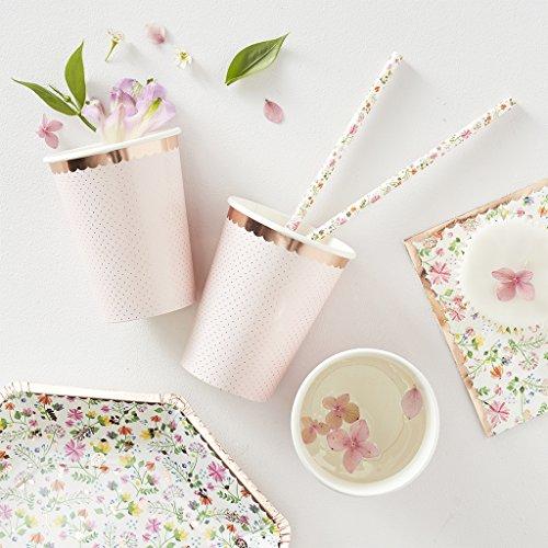 ROSE GOLD FOILED POLKA DOT PAPER CUPS - DITSY FLORAL Rose Becher