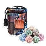 Tragbar Leinwand Eimer Aufbewahrungstasche für Wolle,Stricken Tasche zum Garn die geeignet zum Transportieren von Strick oder Häkeln wolle ist und Taschen für Zubehör (#4)