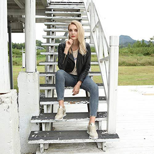 addb417d Zapatillas Deportivas Plataforma Cuña para Mujer - ANJOUFEMME Zapatos Wedge  Sneakers Mujer, Apto para Todas