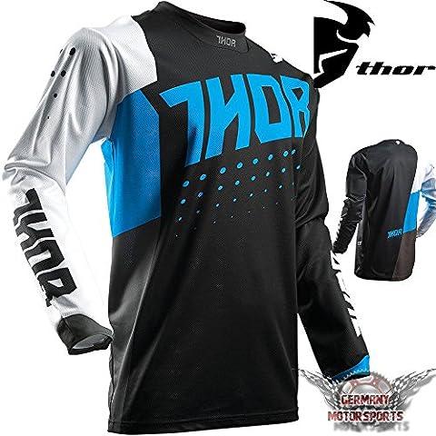 Thor Maillot Motocross Offroad en jersey Bleu Enfant Pulse cross actif Quad MX