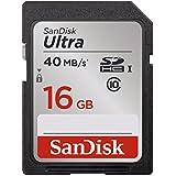 Carte mémoire SDHC SanDisk Ultra 16Go Classe 10 UHS-I avec une vitesse de lecture allant jusqu'à 40Mo/s (SDSDUN-016G-G46)