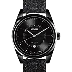 MEDOTA Grancey Men's Automatic Water Resistant Analog Quartz Watch - No. 2903 (Black/Black)