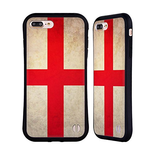Head Case Designs Austalien Australianisch Vintage Fahnen Hybrid Hülle für Apple iPhone 6 / 6s St. Georgskreuz England