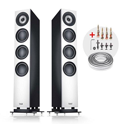 Teufel Definion 3 Weiß/Schwarz Stereo Lautsprecher Musik Sound Hochtöner Mitteltöner Bass Speaker High End HiFi Tieftöner Schalldruck