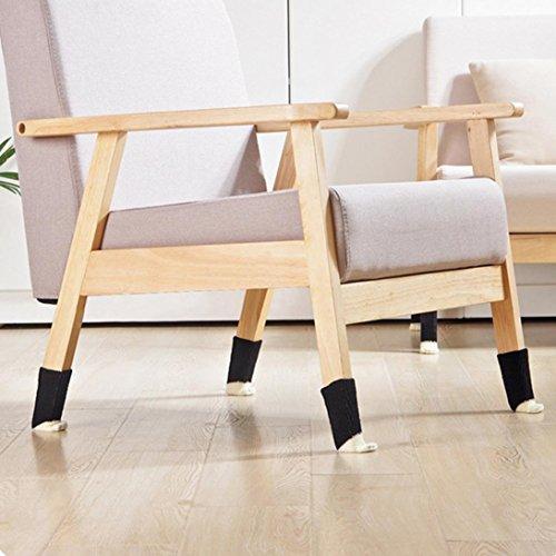 SMILEQ Hot Lovely 4Stuhl Bein Tisch Fuß bedeckt Bodenschoner Floral Kint Cover D