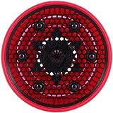 Difusor Retráctil Plegable de Silicona para pelo rizado, color rojo