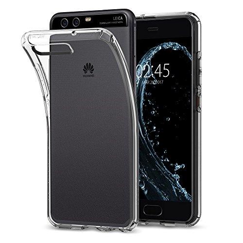 Huawei P10 Hülle, Spigen® [Liquid Crystal] Soft Flex Silikon [Crystal Clear] Transparent Ultra Dünn Schlank BumperStyle Handyhülle Premium Kratzfest TPU Durchsichtige Schutzhülle für P10 Case cover (L13CS21505)
