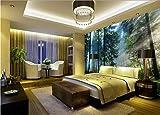 (140X70CM), Alte Zeitung 3D tapete - Cedar Woods Landschaft Hintergrund Wand - Wallpaper Poster Wanddekoration von Bestwind