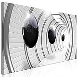 murando - Bilder 3D Effekt 150x50 cm Vlies Leinwandbild 1 TLG Kunstdruck modern Wandbilder XXL Wanddekoration Design Wand Bild - Kugeln grau a-C-0001-b-a