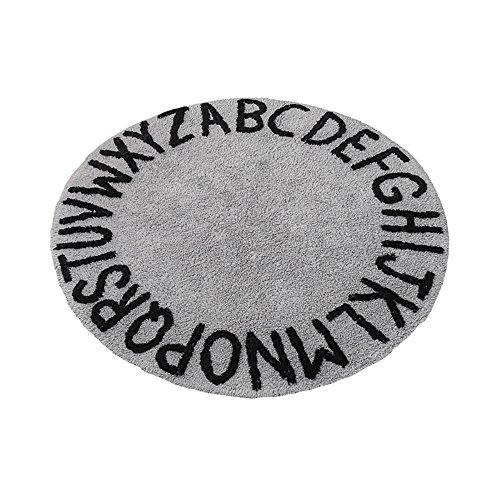 Everyday home- Teppiche/matten Nordischen Stil Kind Brief Baumwolle Baby Krabbeln Matte Schlafzimmer Bett Fiber Teppich (Durchmesser 120 cm) (größe : Diameter 120cm)