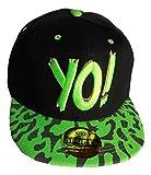 #8: Jubination Unisex Black-Green Yo Hip Hop Cap