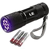 LE Ultraviolett LED UV Taschenlampe mit 9 LEDs 395nm, UV-Strahler, Handlampe, Prüfgerät, ...