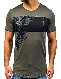 BOLF - T-shirt à manches courtes – avec impression – Motif – Homme [3C3]