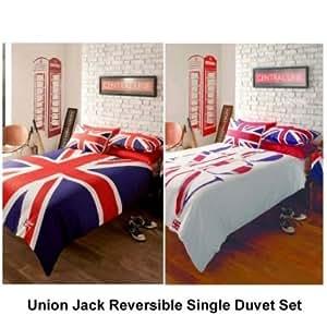 Union Jack London Reversible Single Duvet Set Kitchen Home