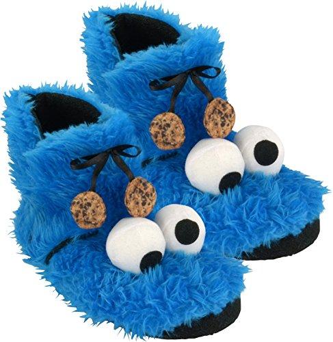 - Hausschuhe Booties Krümelmonster, Plüsch, Größe 37/38 (Cookies Monster Kostüme)