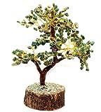 Healing Crystals India®: Natural Gemstone Tree Reiki Gemstones Spiritual Feng Shui Vastu Table Décor (Green Aventurine)
