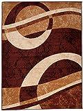 Carpeto Rugs Tapis Salon Marron 300 x 400 cm Moderne Rayé/Monaco Collection
