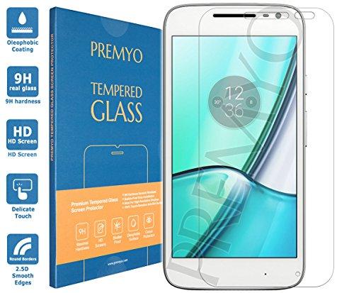 PREMYO Panzerglas Schutzglas Bildschirmschutzfolie Folie kompatibel für Motorola Moto G4 Play Blasenfrei HD-Klar 9H 2,5D Gegen Kratzer Fingerabdrücke