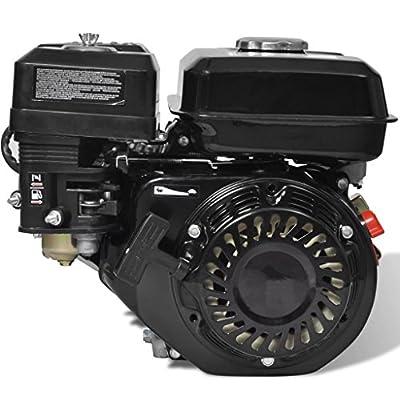 yorten 4,8 kW Benzinmotor Ottomotor 6,5 HP 196 cc Ersatzteile Motor Austauschmotor 3600 U/min Tankinhalt 3,7 L Schwarz 36 x 25,3 x 32 cm (L x B x H)