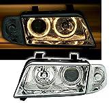 AD Tuning GmbH & Co. KG Angel Eyes Scheinwerfer Set, Klarglas Chrom, mit Standlichtringen