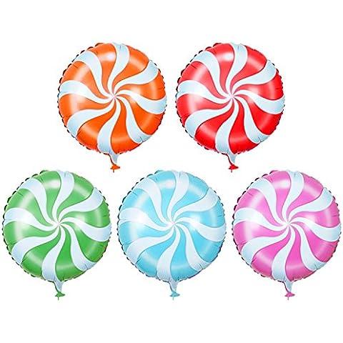Gosear 100 piezas Globos Foil de circular piruleta para Decoraciones de Fiestas de Cumpleaños para