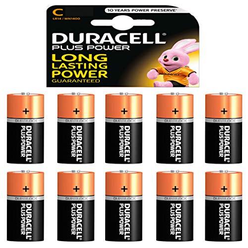 10 x Duracell 1,5 V Baby C/ LR14/ AM2/ 4014/Alkaline Batterie Duracell Alkaline-batterie
