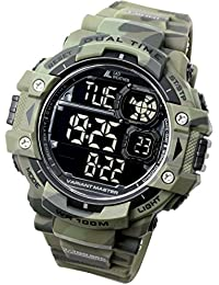 [LAD WEATHER] Militäruhr/Camouflage/Stoppuhr/Uhr mit Pacer-Funktion / Outdoor/100m wasserdichte Herrenuhr