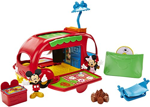 Fisher Price Mickey - Cjd98 - Figurine Animation - Le Camping Car Surprises