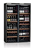 Ip Industrie - Cantina climatizzata 2 scomparti per rossi e bianchi e ante in vetro scorrevoli capacità 276 bottiglie