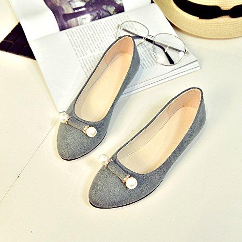 Longra Donna Scarpe comode scarpe comode scarpe nude Grigio