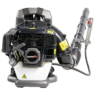 GartenXL EB430 Profi Benzin Laubbläser mit Rückenpolsterung und zuvärlässigem 2-Takt-Motor mit 43ccm