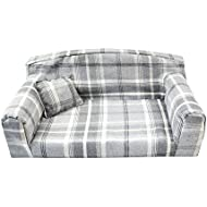 Dove Gray Royal - Pet Sofa. 3 sizes Dog bed cover material. Made in UK (Large 96 x 64 x 34 cm)