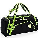 USHTH Sporttasche Reisetasche Gym Bag Fitness Tasche Umhängetasche kann als Rucksack für Damen und Herren(Grün)