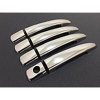 Tapa para manilla de puerta de acero inoxidable cromado, 4 puertas