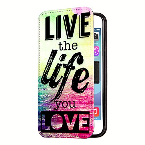 """deinPhone Apple iPhone 6 6S (4.7"""") SILIKON CASE Hülle deinPhone Eule Live the life you love"""