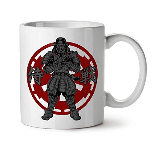 Wellcoda japanisch Kunst Cool Fantasie Keramiktasse, Legende - 11 oz Tasse - Großer, Easy-Grip-Griff, Zwei-seitiger Druck, Ideal für Kaffee- und - Fantasy Krieger Kostüm