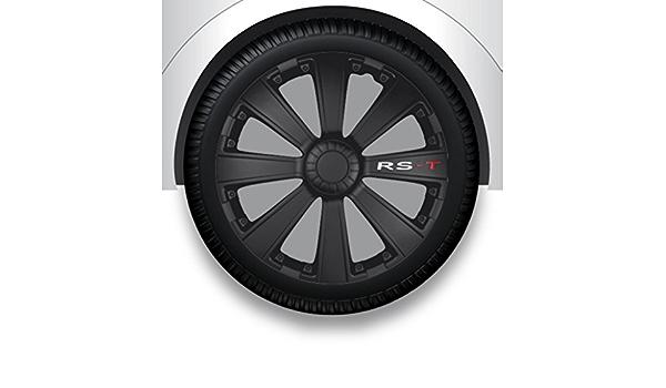 Zentimex Radzierblenden Radkappen Radabdeckung 15 Zoll 18 Schwarz Abs Auto