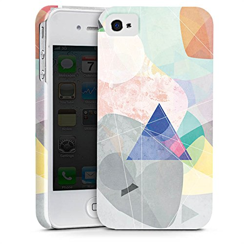 Apple iPhone X Silikon Hülle Case Schutzhülle Muster Design Dreieck Premium Case glänzend