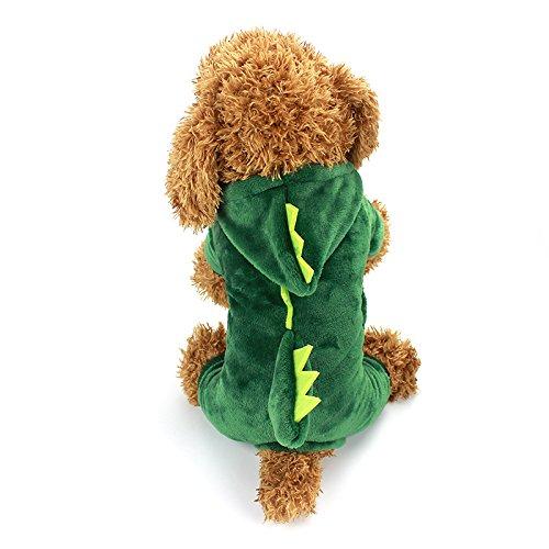 idepet Hund Kleidung Halloween Dinosaurier Kostüm Pet Kleidung für Welpen kleine Medium Hunde Outfits Funny (Halloween Hund Outfits)