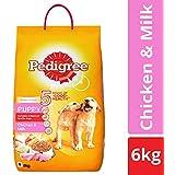 Pedigree Puppy Dry Dog Food, Chicken & Milk – 6 kg Pack