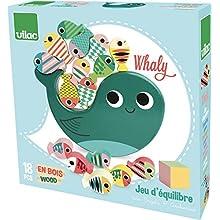 Vilac Vilac7716 Whale Equilibrist Game, Multi-Color