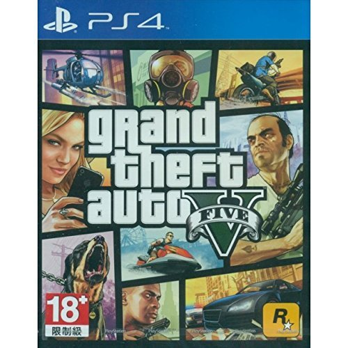 GRAND THEFT AUTO V GTA 5 English, French, Brazilian Portuguese, Korean, Traditional Chinese, Latin American Spanish [Region Free Mutli-language Edition] PS4 Game by Rockstar Games (Playstation 4 Gta 5 Edition)