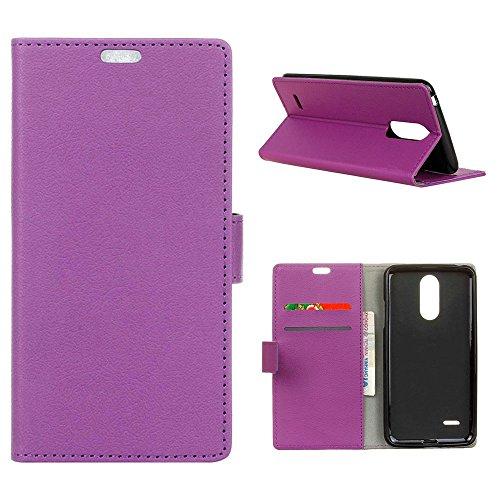 MOONCASE LG K4 2017/LG Phoenix 3 Hülle, Flip Leder Tasche Built-in Card Slot Dauerhaft Silikon Anti-Kratzer Stoßfest Schutzhülle Case für LG K4 2017 5.0