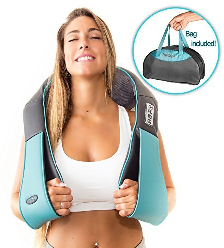 Shiatsu Back Neck and Shoulder Massager with Heat - Deep Tissue 3D Kneading Pillow Massager for Neck Back Shoulders Foot & Legs – Electric Body Massager Relieve Muscle pain - Office Home & Car